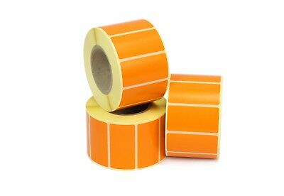 50mm x 25mm Orange Thermal Transfer labels. 25mm core, 1k Roll, Ideal for craft.