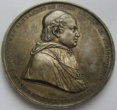 STARTING 1 $ for STRAORDINARY SILVER HUNGARY MEDAL 1822 A.RUDNAY  ESZTERGOM