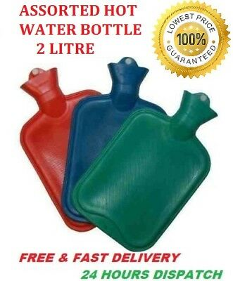 2L Liter Large Hot Water Natural Rubber Bottle Warmer Mix Pack Assorted Bed