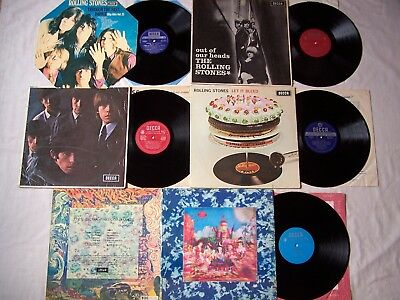 Joblot Of Rolling Stones Albums  ~ Let It Bleed / Satanic Majesties / Out Heads