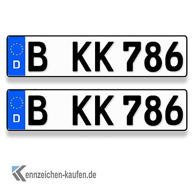 nummernschild kfz kennzeichen euro format lif vs siegel. Black Bedroom Furniture Sets. Home Design Ideas