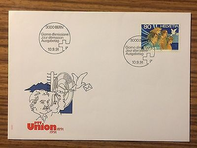 FDC Schweiz Switzerland Kat.818 PTT Union 10.9.1991