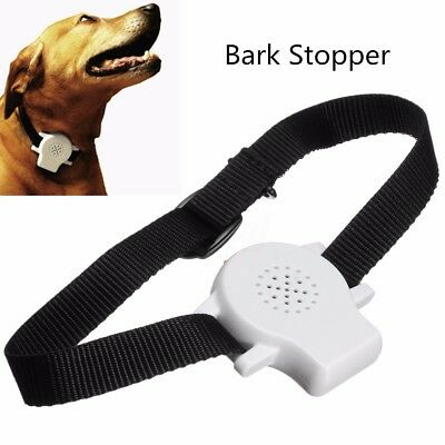 Ultrasonic Recording Pet Dog Stop Barking Collar Anti Bark Training Aid Control