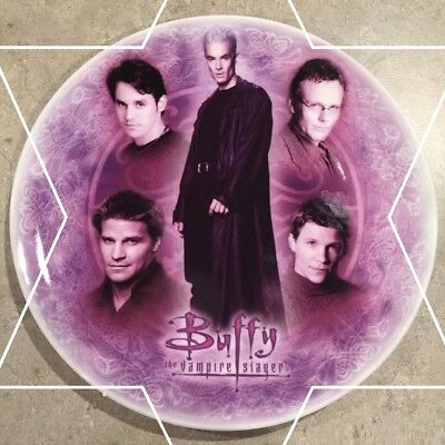 """Buffy the Vampire Slayer Exclusive Collector Plate """"Men of Buffy"""" - VERY RARE"""