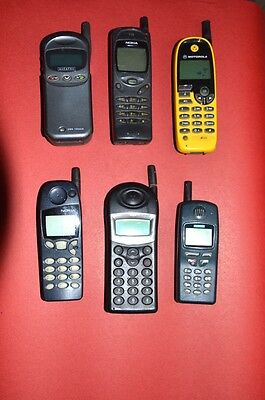 LOT COLLECTION 6 Vintage Cell phones Motorola Philips Siemens Nokia Alcatel