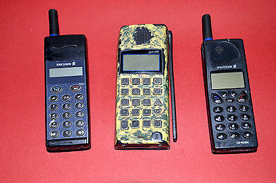 LOT COLLECTION 3 Vintage Ericsson GA318 GH688 GH198 GSM Cell phone Mobile phone