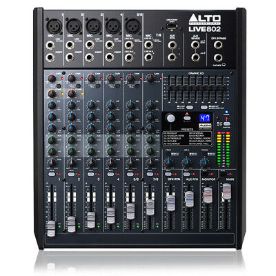Alto Live 802 8 Channel PA Mixer Effects SSC1812
