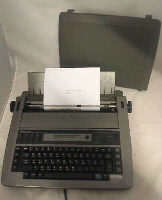 Vintage Panasonic KX-R194 Electronic Typewriter with cover