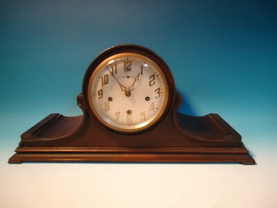"Antique New Haven westminster chime ""Milan"" mantel clock."