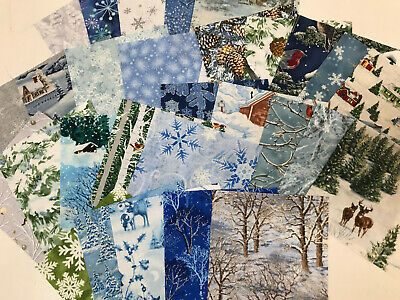 Winter X-mas 30 Piece Charm Pack 5 Inch Squares Quilt Store Fabric Precut