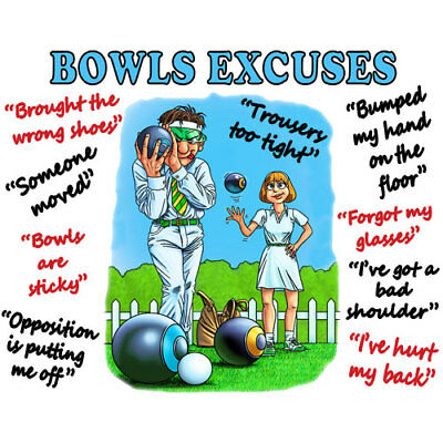 Bowls Excuses - Cleaning Cloth Super Christmas/Secret Santa Present for a Bowler