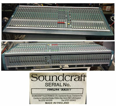 Soundcraft K3 40 Channel Mixing Console