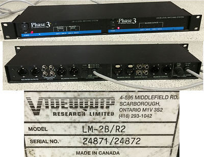 Videoquip Phase 3 LM-2B/R2 Level Matching System