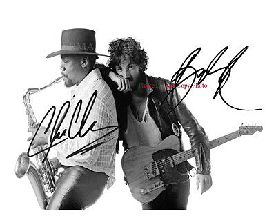 Bruce Springsteen & Clarence Clemons Signed 8X10 Photo Autographed