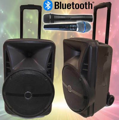 Vocal-Star Boombox Portable Cdg Dvd Bluetooth Karaoke Machine 2 Mics 160 Songs