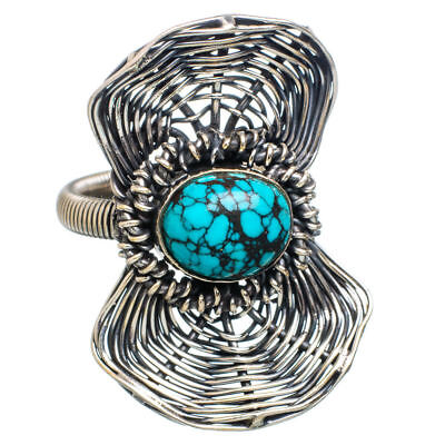 Lord Dryghten Pagan God Of Magick OOAK Tibetan Turquoise Sterling Silver Ring NR