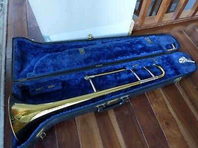 Professional Bach Stradivarius Trombone Model 12, Great Condition Fresh Overhaul