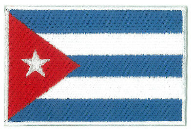 Patche écusson patch drapeau Cubain Cuba brodé thermocollant