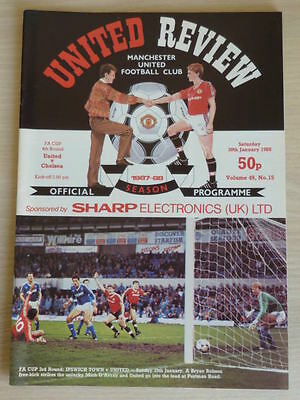 MANCHESTER UNITED v CHELSEA  30th January 1988