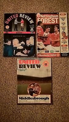 3 Old Man Utd Programmes