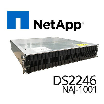"Disk Array 24 Bays x 2.5"" Cad NetApp DS2246 NAJ-1001 Chassis + 2 x PSU Installed"