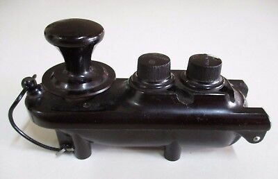 Antique WWII RAF Bomber 'Bathtub' Morse Code Key - Bakelite Telegraph Tapper