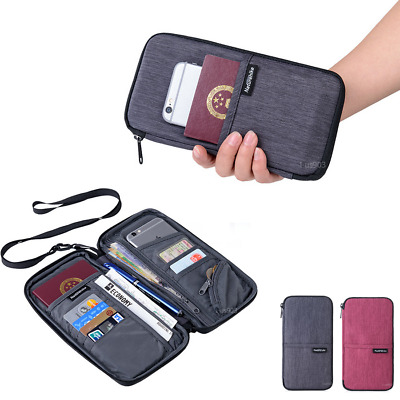 Brand Quality Travel Wallet Passport ID Cards Holder Unisex
