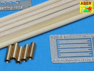 Aber barrel cleaning rods with brackets for King Tiger 1/16 scale 16052