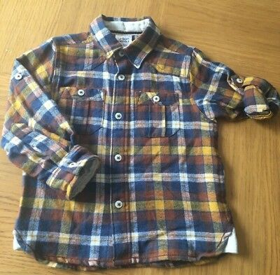 New Urban Rascals Boys Warm Checked Shirt - 18-24 Months