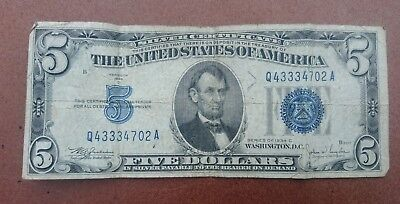 USA Five dollars 1934c silver certificate banknote