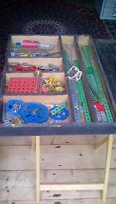 Vintage Meccano in wooden box