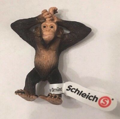Schleich Chimpanzee Young Figurine New with Tag 6cm  4005086146808