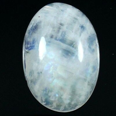 17.90 cts Natural Lovely Quality Rainbow Moonstone Gemstone Oval Loose Cabochon