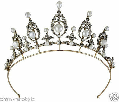 Princess Vintage Look 5.80Ct Rose Cut Diamond 925 Silver Party Tiara Crown @CVS