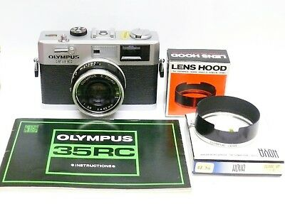 Olympus 35 Rc With E.zuiko 42Mm F2.8 Lens. Lovely Condition With Hood And Instru