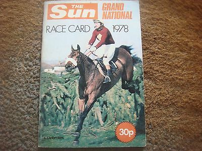 Grand National Liverpool Aintree 1978 Race Card Red Rum - Horse Racing