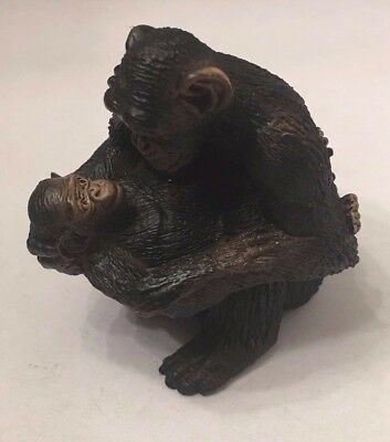 Schleich Chimp with Baby Figurine New without Tag 6cm  4005086146792
