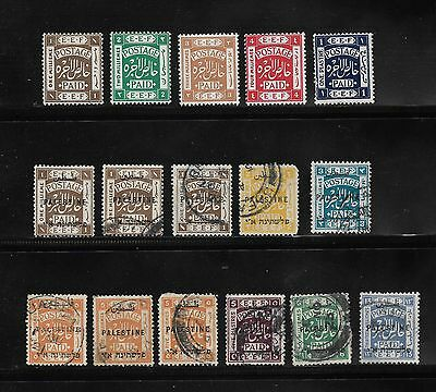 Collection Of Palestine Stamps / Arabic Overprints Unchecked Used / Unused