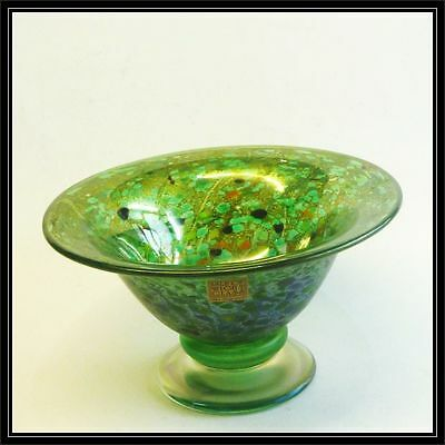 Isle of Wight studio glass green  summer fruits open bowl