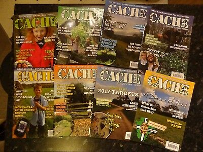 UK CACHE MAG - 8 different copies of geocaching magazine (used: see description)