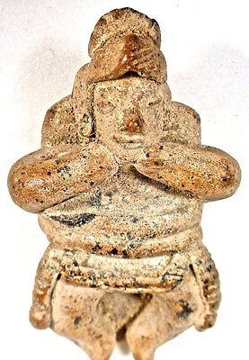 Pre-Columbian COLIMA BOUND BED FIGURE EX: SOTHEBY'S 1978