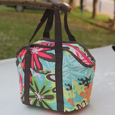Thirty one 31 Canvas handbag Colored flowers tote Lunch bag Cosmetic Bag
