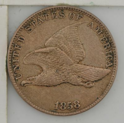 1858 Flying Eagle One Cent *588