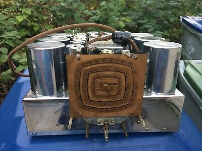 Antique 1930s EH Scott Model Sixteen Radio Chassis Beautiful Chrome Tube Covers