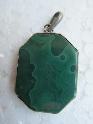Charming Rare Vintage Melaguide Gems Stone With Silver Pendant Jewelry India