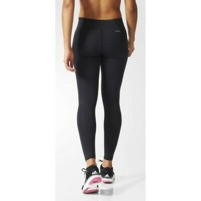 Adidas Womens Ladies Black Work Out Running Fitness Gym Tights Leggings Sizes