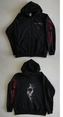 "Soilwork official ""Death resonance"" Zip Up Hoodie Black (L,XL)"