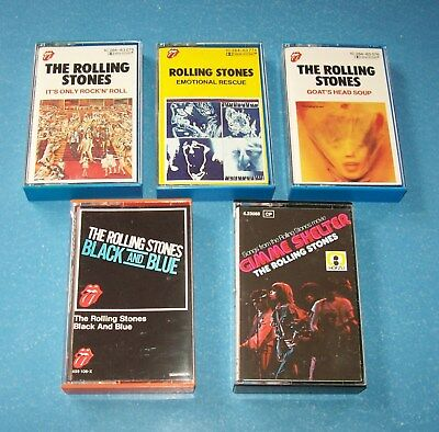 The Rolling Stones: 5 x MC (Gimme Shelter, Goats Head, Black and Blue,…) 70er Ja