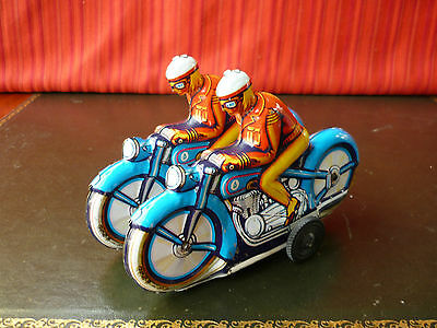 1$ Auction Philipp Niedermeier Tin Friction Double Overlapping Motorcycle Racers