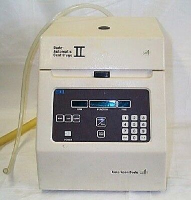 American Dade  Centrifuge II  Benchtop with rotor